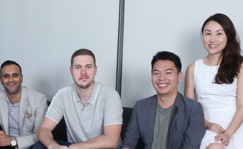 PatSnap Founders Ray Chohan, Markus Haense, Jeff Tiong and Guan Dian
