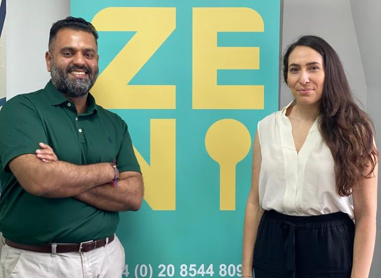 Raj Patel and Elena Lopez Co Founders Zeni